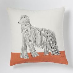 This exclusive cotton pillow resulted from our design collaboration with Cape Town artist Gemma Orkin.