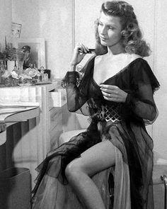 CELEBRITY BOUDOIR - Rita Hayworth