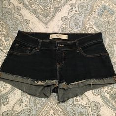 Jean Shorts Abercrombie Jean shorts with cuff. Abercrombie & Fitch Shorts Jean Shorts