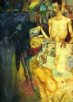 1949 'Metamorphosis of The Flesh', Ernst Fuchs (Austrian, 1930~2015)