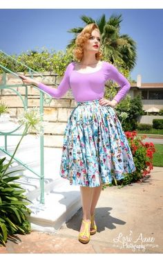 Paris Print Jenny Skirt