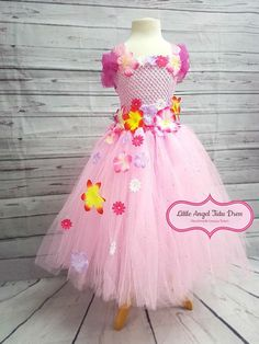Check out this item in my Etsy shop https://www.etsy.com/uk/listing/595442793/pink-orange-flower-fairy-tutu-dress