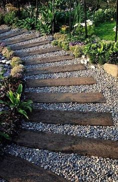 Coming across rock landscaping ideas backyard can be a bit hard but designing a rock garden is one of the most fun and creative forms of gardening there is. Front Yard Landscaping, Backyard Patio, Outdoor Landscaping, Wooded Backyard Landscape, Pebble Landscaping, Front Yard Walkway, Acreage Landscaping, Hydrangea Landscaping, Inexpensive Landscaping
