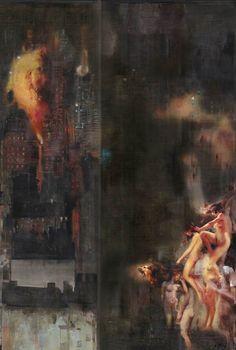 """Iva Troj; Acrylic 2013 Painting """"Mankind"""""""