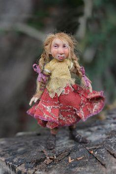dolls by chopoli | OOAK miniature artdoll 112th by Tatjana Raum by chopoli on Etsy