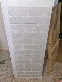 Glue Guns Blazing: Faux Bricks: The Beginning