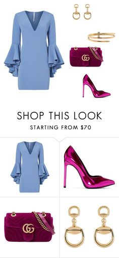 """Untitled #392"" by nadiralorencia on Polyvore featuring Milly, Yves Saint Laurent, Gucci and Cartier"