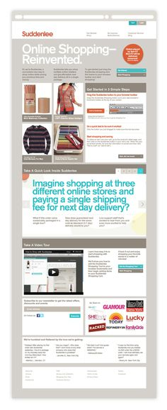 Suddenlee Shopping Website by Giles Dickerson, via Behance