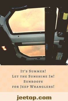It's #Summer!  Let the sunshine in!  #Sunroofs for #Jeep #Wranglers.  Learn more! www.jeetop.com