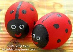 Ladybug/Ladybird Easter Eggs Painting - Easter Egg Decorating Ideas