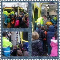basisschool #tStartblok groep3 |  Een kijkje in de ambulance, super spannend! #jeeloveilighelpen
