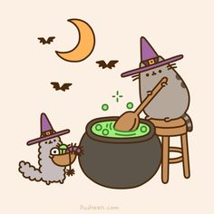 Halloween is coming soon!! My first book is, too! - Pusheen the cat