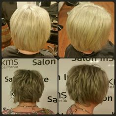 From homemade blonde, to grey.  Hair by Anja Schnell