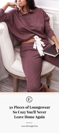30 Pieces of Loungewear So Cozy You'll Never Leave Home Again on a cozy scale of 1 to these are a 22 Loungewear Outfits, Loungewear Set, Athleisure Outfits, Lounge Outfit, Lounge Pants, Lounge Wear, Lounge Clothes, Cozy Clothes, Bar Lounge