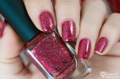 Nailpolis Museum of Nail Art | ILNP Cherry Luxe Swatch by Lacquered Obsession