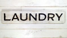 Amazon.com: Laundry Sign - Carved in a Cypress Board Rustic Distressed Shop…