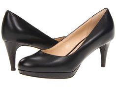 NIB - Cole Haan Chelsea Low Pump Black Leather Women's Low Platform Heels Size 8 #ColeHaan #ClassicsPumpsHeelsPlatform