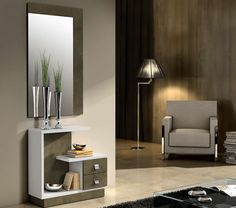 modern console table design ideas with mirror 2019 Small Living Rooms, Living Room Designs, Bed Furniture, Furniture Design, Feng Shui, Console Design, Muebles Living, Bedroom Bed Design, Modern Console Tables