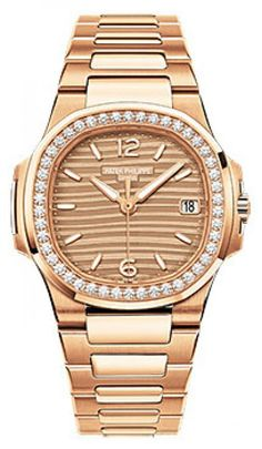 7fa7e2888d6 Patek Philippe 7010 1R-012 Nautilus Ladies Rose Gold Bracelet - швейцарские  женские наручные