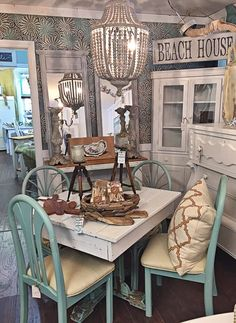 High Tide Home - Shabby Chic Dining Room Set | #furniture #shabbychic #shabbychicfurniture #wilmingtonnc