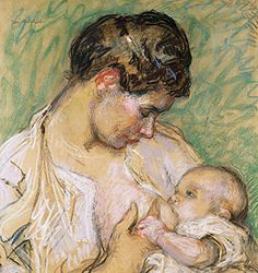 Mother and Child 1905-1908   by Julius Gari Melchers (1860-1932, American)