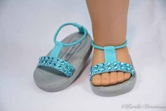 SPARKLE!!! Every Fashionista needs some in her wardrobe and these are just the ones to add. They are a fashion staple and these little sandals are not only cute, but oh so comfortable and easy to get on and off (even for little fingers!) The tops of these Sparkly SANDALS have a