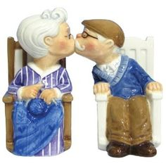 sometimes... old people are cute. salt and pepper shakers.