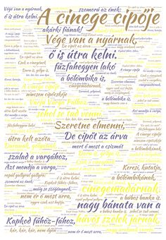 A cinege cipője word cloud art created by SFJudit Word Cloud Art, Word Art, Dysgraphia, Dyslexia, Classroom Decor, Clouds, Journal, Education, School