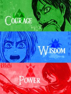 Omg, this works so well. I can't even... O ///// O (Shingeki no Kyojin / Attack on Titan and The Legend of Zelda crossover)