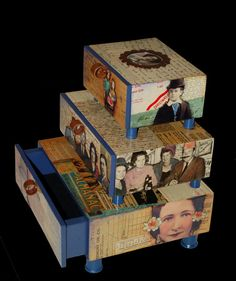 decoupage jewelry box by gigoldbaby on Etsy,