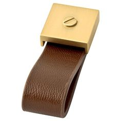 Threshold™ Leather and Brass Knob : Target