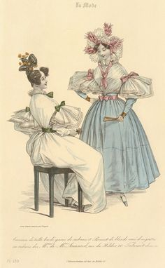 Women's fashion, ca. Day dresses, part 1 You know all of these dress posts are going to take many parts each… [[MORE]]There are a dizzying number of different terms applied to female attire of. Historical Costume, Historical Clothing, Vintage Gowns, Vintage Outfits, Costume Français, Decades Fashion, Victorian Blouse, Fashion Illustration Dresses, Fashion Terms