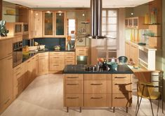 Natural White Oak Kitchen Cabinets Remodeling Ideas Captivating G Shape Layout Kitchen Ideas For Small Spaces And Minimalist Small Kitchen Island Plus Chairs, Best Kitchen Cabinets Design For Renew Your Kitchen Appearance: Interior, Kitchen