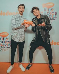 Mathi y fede kids' Choice Awards 💖