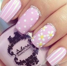 Easter/Spring nail design | Check out http://www.nailsinspiration.com for more inspiration!