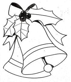 Dibujos y Plantillas para imprimir: Campanas navidad                                                                                                                                                                                 Más
