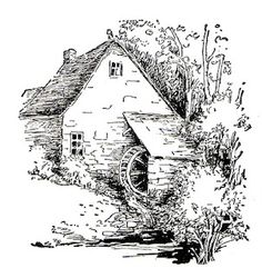 cottage from a 1920's book # Pin++ for Pinterest #