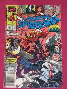 The Amazing Spider-Man #331 Marvel Comics 1990, Bagged & Board, Punisher, Venom | eBay