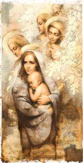 Zbiór modlitw: Modlitwa w chwilach doświadczeń Blessed Virgin Mary, Mona Lisa, Artwork, Painting, Xmas, Work Of Art, Auguste Rodin Artwork, Painting Art, Artworks