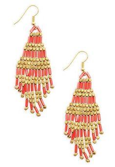 Cato Fashions Seed Bead Chandelier Earrings #CatoFashions