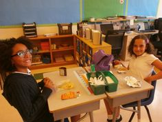 Students get reacquainted during lunch time and free choice time