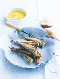 crispy sardines with lemon and mint.  I plan to use minimal flour if any and watch the olive oil etc.