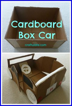 Make your own kid-sized car with this fun DIY tutorial of an upcycled car made out of cardboard!