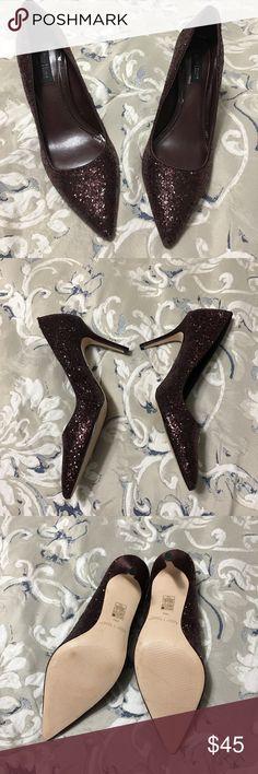 White House Black Market Shoes White House Black Market Wine Color Sequined Heels. Never worn. Without Tags. White House Black Market Shoes Heels