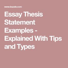 Proposal Essay Ideas Essay Thesis Statement Examples  Explained With Tips And Types Essay On Terrorism In English also What Is A Thesis Statement In An Essay  Thesis Statement Examples To Inspire Your Next Argumentative  Sample Essay With Thesis Statement