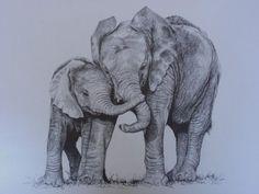 Mom And Baby Elephant Tattoo Mom And Baby Elephant Tattoo Elephant Tatoo, Elephant Sketch, Elephant Tattoo Design, Elephant Drawings, Mom And Baby Elephant, Elephant Love, Elephant Art, Mandala Elephant, Cartoon Elephant