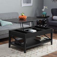 Belham Living Hampton Lift Top Coffee Table - Black - DO NOT USE