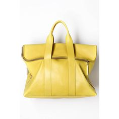 OOOK - 3.1 Phillip Lim - Women's Bags 2012 Spring-Summer - LOOK 56 ❤ liked on Polyvore featuring bags, handbags, 3.1 phillip lim bag, summer bags, yellow purse, 3.1 phillip lim and yellow bag