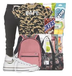 """""""Untitled #139"""" by w-on-der-lan-d ❤ liked on Polyvore featuring Stabilo, Victoria's Secret, Sharpie, John Elliott, A BATHING APE, Urban Outfitters, LifeProof, Herschel Supply Co., Converse and casual"""