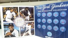 YANKEES MEDALLION BOOK 4 PAGE ~2004 COLLECTION -NEXT GENERATION - NEW YORK POST #NewYorkYankees